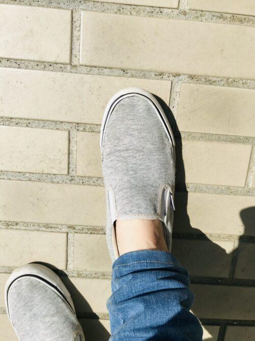 スニーカー+脱げない靴下